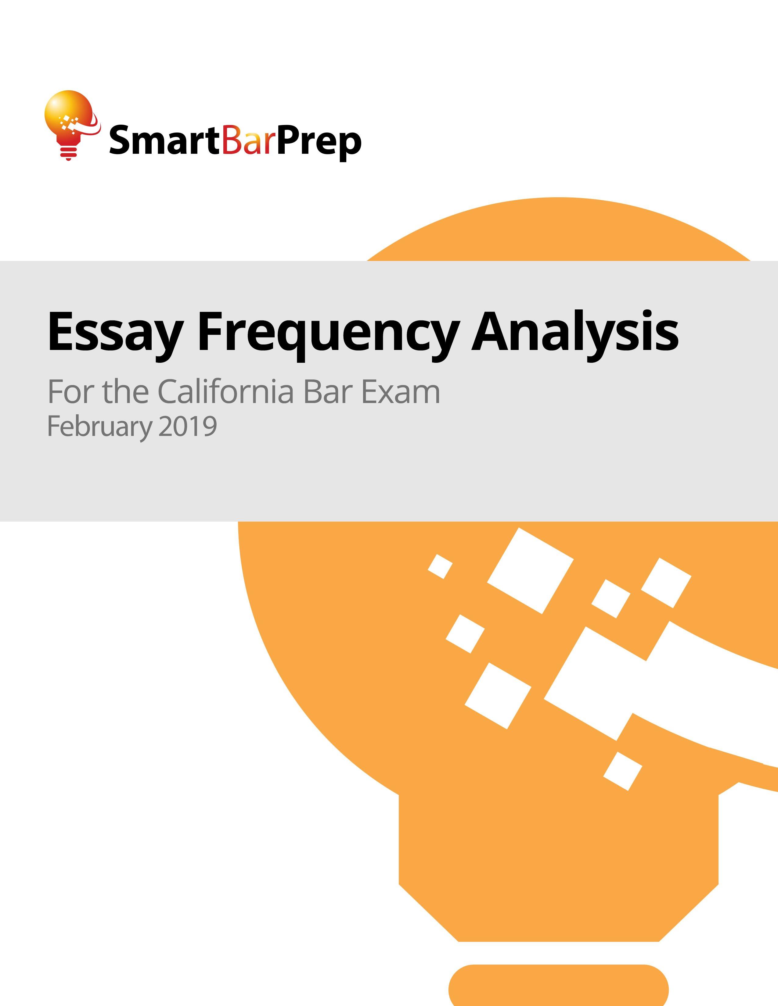 California Essay Frequency Analysis - SmartBarPrep.com