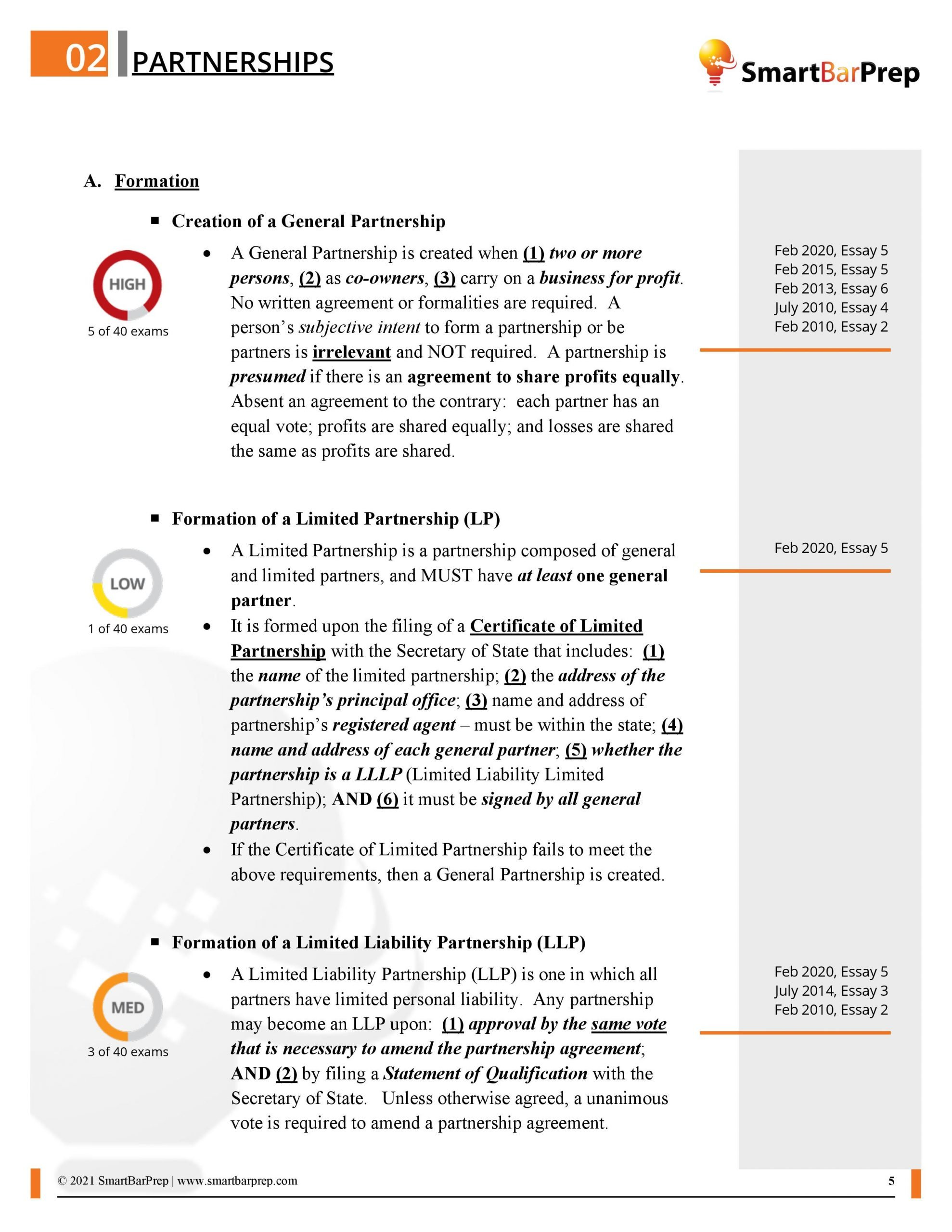 CA Priority Outline - Partnerships Page - Sample
